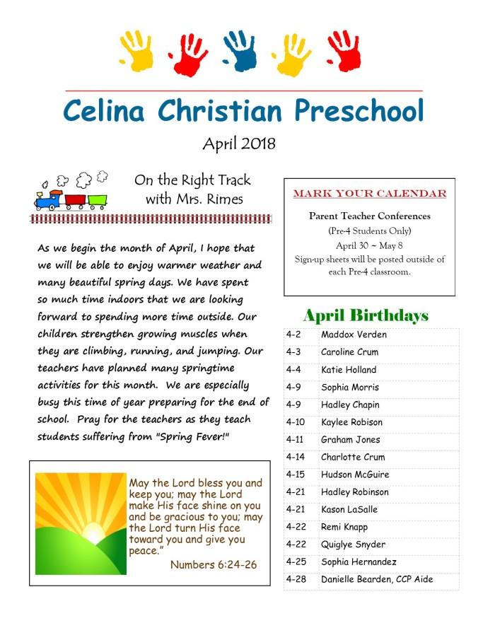 April Newsletter 2018 pg1 jpeg